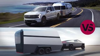 Comparing the electric Ford F-150 Lightning to the Tesla Cybertruck