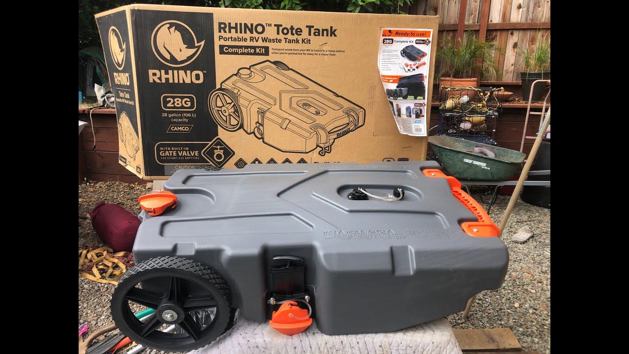 Camco Rhino Heavy Duty Portable Rv Waste Holding Tank Fix Youtube