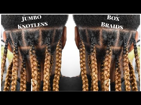 Knotless Jumbo Box Braids
