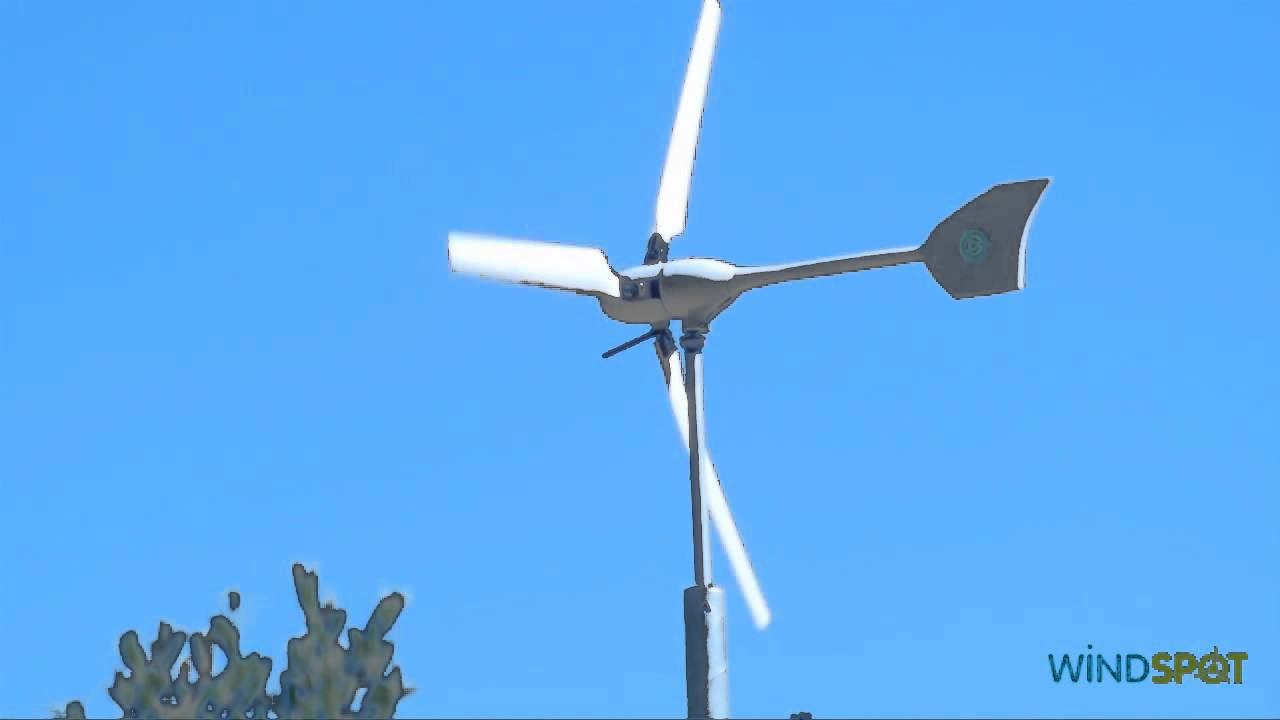 small wind turbines windspot 7 5 kw aerogenerador de peque a e lica youtube. Black Bedroom Furniture Sets. Home Design Ideas