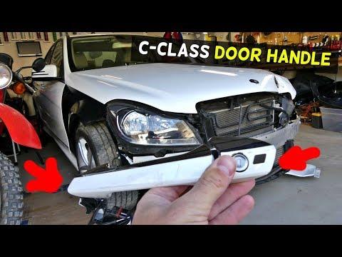 MERCEDES W204 EXTERIOR DOOR HANDLE REMOVAL REPLACEMENT C250 C300 C350 C200  C220
