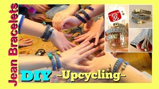 How to make a Bracelet | DIY Upcycled Jeans | How to make Denim Jewelry Bracelets DIY(DIY Upcycled Jeans | How to make Denim Jewelry Bracelets Pinterest Upcycled Denim Jeans Jewelry Craft Watch how to make a shabby chic denim jean ..., 2015-03-02T06:35:58.000Z)
