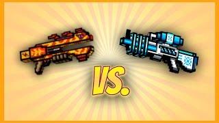 Pixel Gun 3D - Dragon Breath vs. Freeze Ray Rifle UP1!