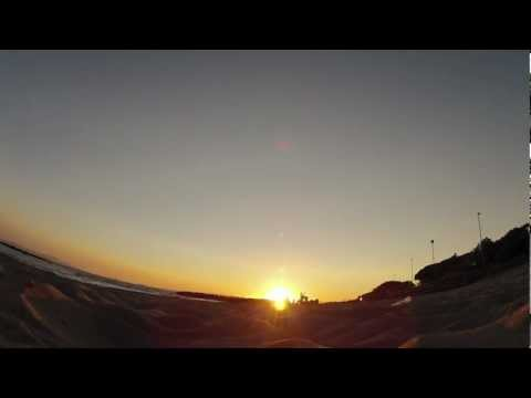 Sunset on the beach - GoPro time lapse