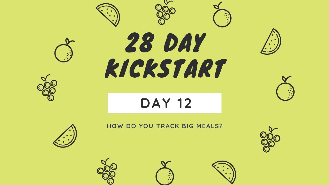 Day 12 - How To Track Big Meals