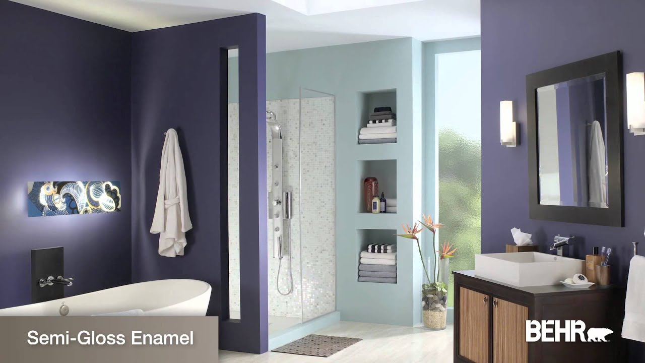 How To Choose An Interior Paint Sheen, Behr Bathroom Paint Type