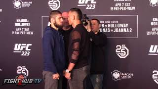 MAX HOLLOWAY VS KHABIB NURMAGOMEDOV UFC 223 MEDIA FACE-OFF