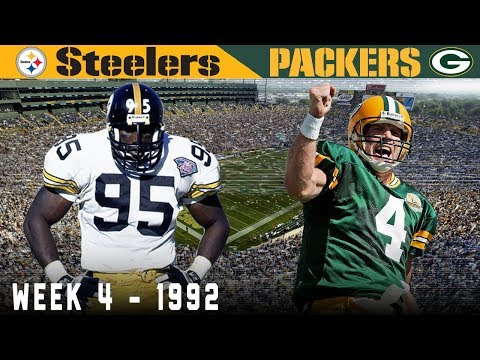 Brett Favre's FIRST Start! (Steelers Vs. Packers, 1992) | NFL Classic Game Highlights