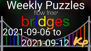 Flow Free Bridges - Weekly Puzzles - Simply Extreme - 2021-09-06 to 12 - September 6th to 12th 2021 screenshot 1