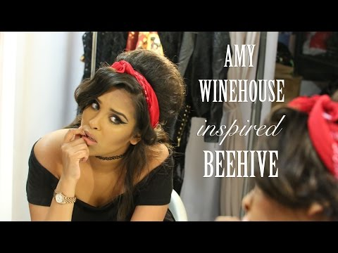Amy Winehouse Inspired Beehive Hair Tutorial| ad