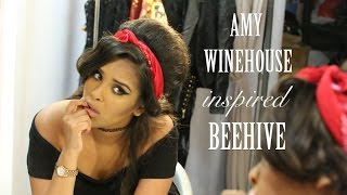Video Amy Winehouse Inspired Beehive Hair Tutorial| ad download MP3, 3GP, MP4, WEBM, AVI, FLV Agustus 2018