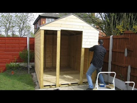 How To Build A Shed With Cottage Shed Plans Youtube