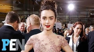 'Rules Don't Apply' Star Lily Collins Reveals The Difficulty Of Her Golden Globes Dress | People