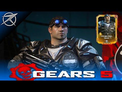 GEARS 5 Characters - CHROME STEEL BAIRD Character Skin Multiplayer Gameplay! Esports Chrome Steel.