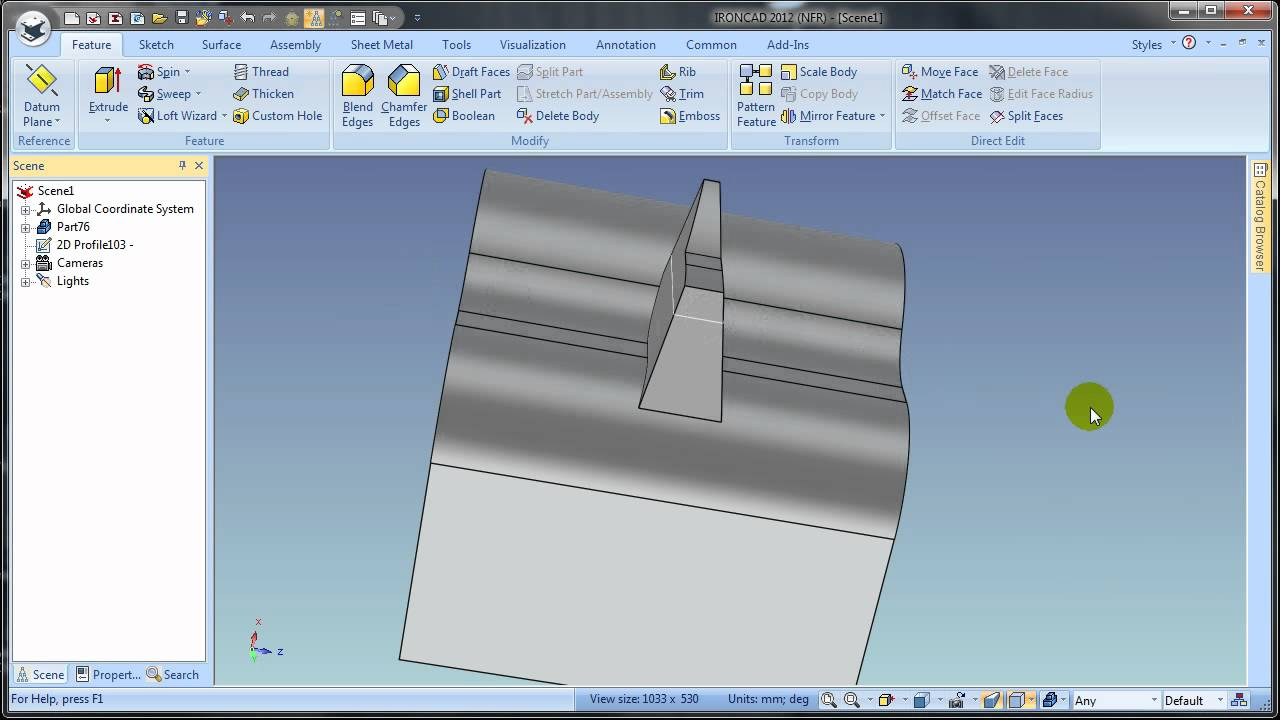 111220- IRONCAD- Emboss Feature
