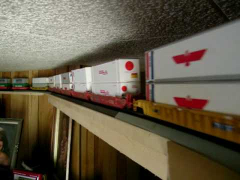 43 Car Ho Scale Train Around Top Of My Living Room Youtube