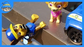 Paw Patrol Chase fall on the ground. Zuma Skye and Rubble Rescue him. | Shim thumbnail
