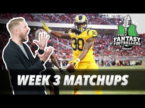 Fantasy Football 2017 - Week 3 Matchups, In-or-Out, Gurley Delivers - Ep. #442