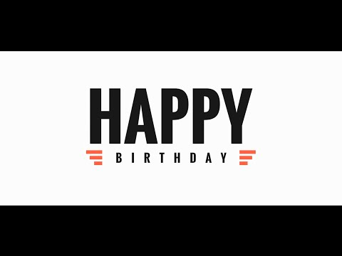 Happy Birthday Song for Katrina, Kinetic Typography 1080p