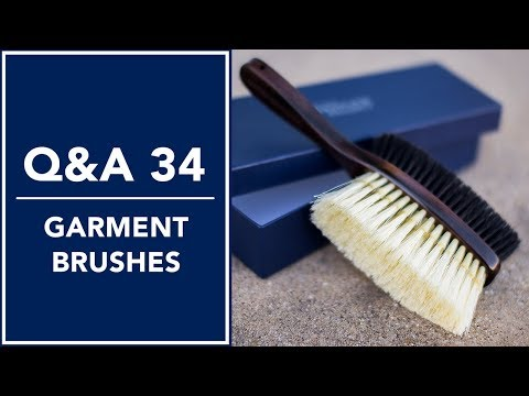 Clothing Care Tips: Garment Brushes - Q&A 34   Kirby Allison