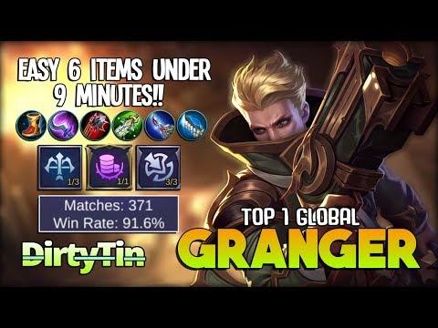 Granger Perfect Accuracy Skill!! 91.6% Win Rate! D̶irty̶T̶in̶ Top 1 Global Granger ~ Mobile Legends