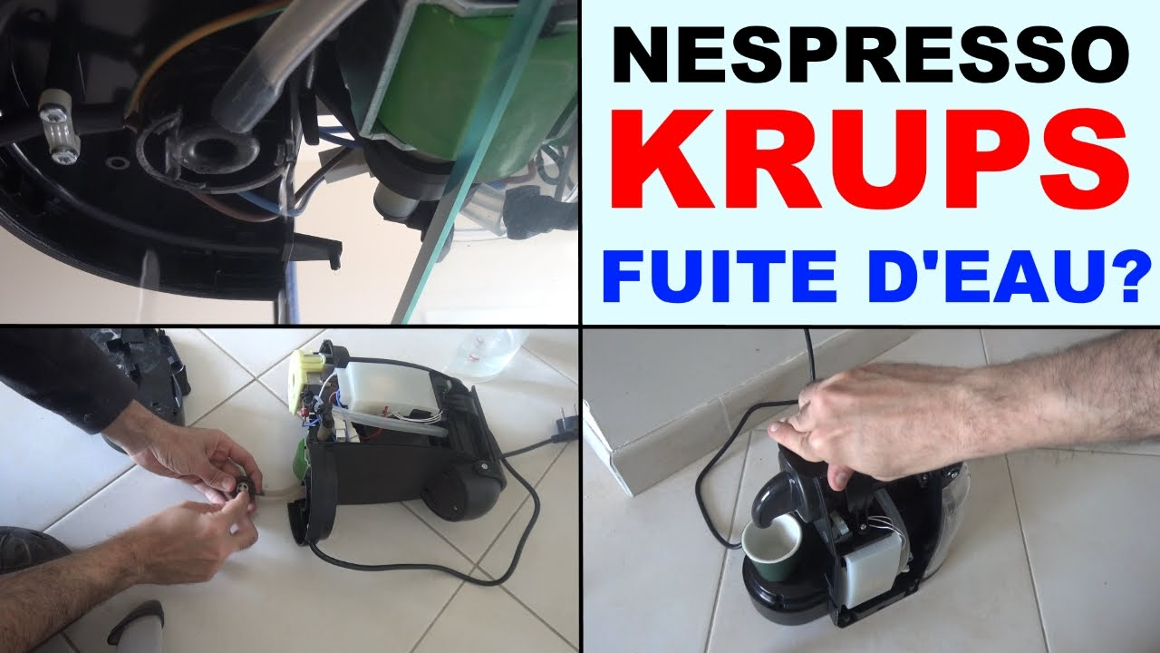 nespresso krups eau qui coule fuite d 39 eau qui fuit reparer xn2003 essenza youtube. Black Bedroom Furniture Sets. Home Design Ideas