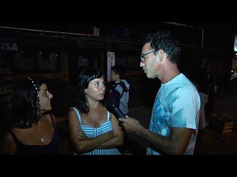 Por la noche en Punta del Diablo