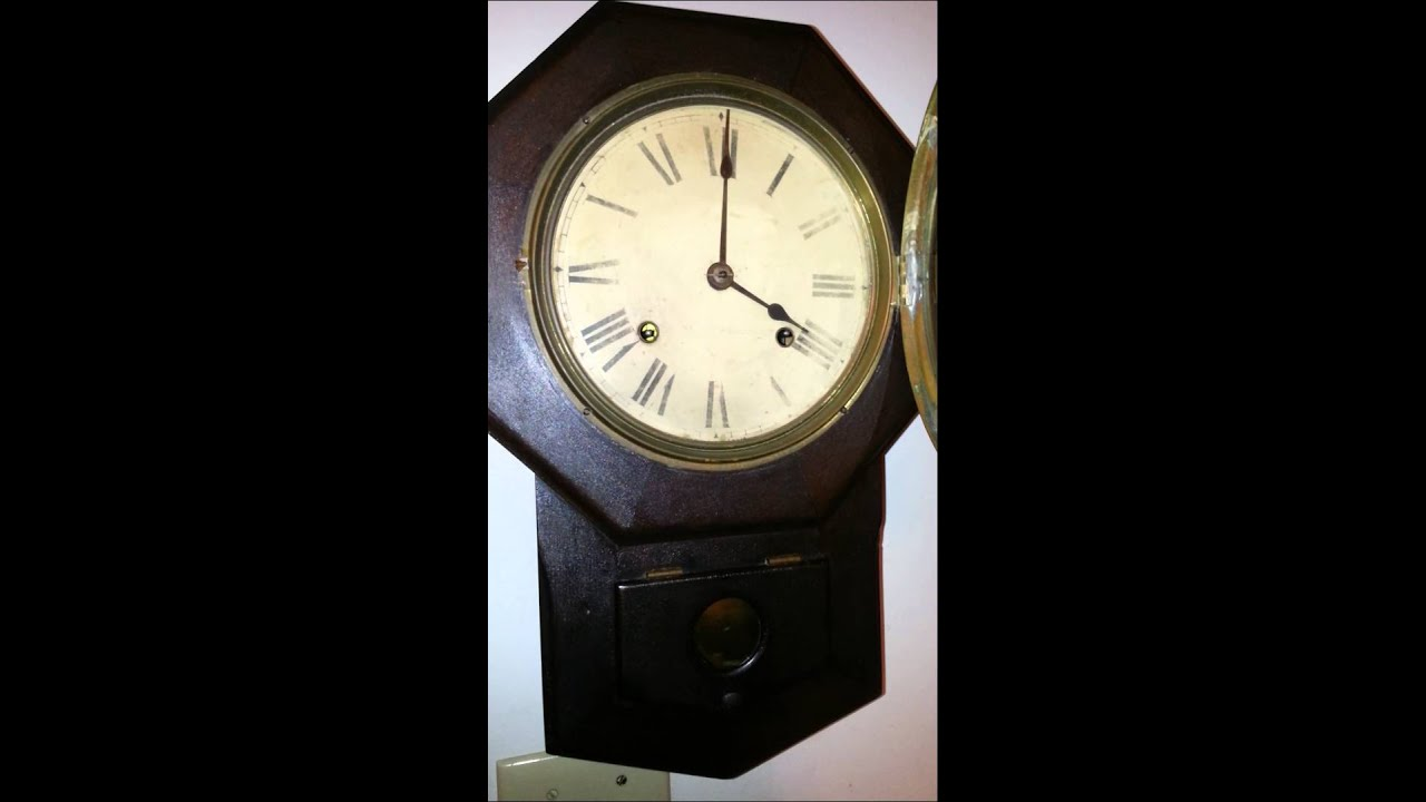 Seth Thomas Antique Wall Clock YouTube