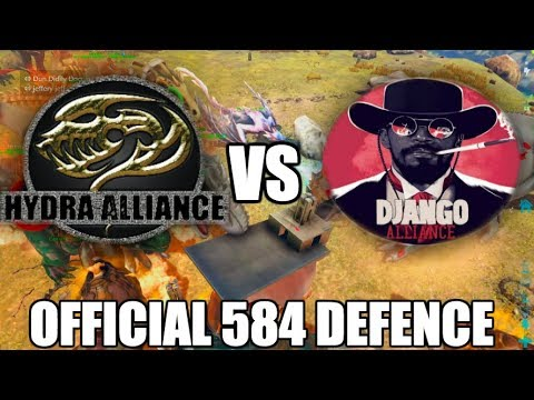 HYDRA Defends Against DJANGO GANG - Ark Server 584 Official Defence