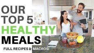 TOP 5 HEALTHY MEALS - by Men's Health Cover Guy Weston Boucher & Oxygen Cover Gal Katie Corio