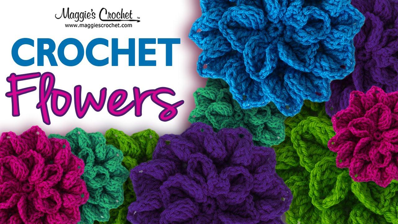 Crochet Patterns For Left Handers : Hydrangea Free Crochet Pattern - Left Handed - YouTube