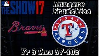 MLB 17 The Show Texas Rangers Franchise Yr 3 - gms 97-102