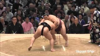 里山 vs 徳勝龍の取組。 2016大相撲春場所6日目。