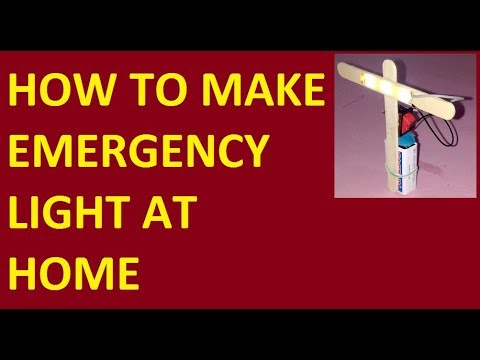 Make an emergency light at home