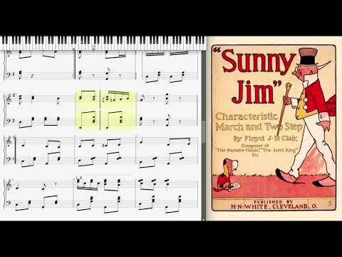 Sunny Jim by Floyd St Clair (1902, March piano)