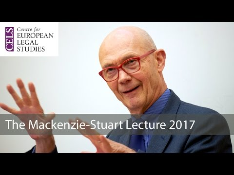 'Is Globalisation Faltering?': The 2017 Mackenzie Stuart Lecture