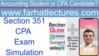 CPA Tax Simulation Section 351 | Corporate Income Tax Course | CPA Exam Regulation