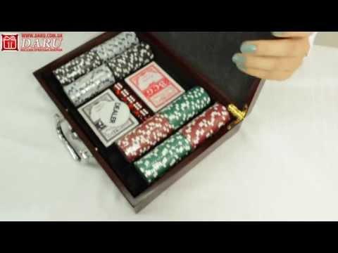 Покерный набор, 200 фишек. Солидный набор для игры в покер на подарок