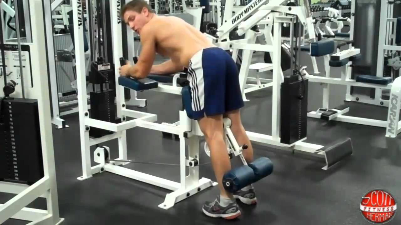 how to standing leg curl bm youtube