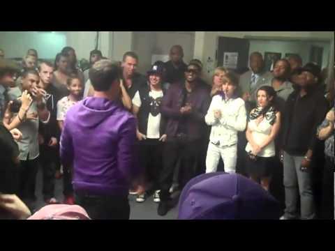 Justin Bieber Backstage At Madison Square Garden 08/31/10