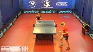 Настольный теннис матч 221018 8  Ермакова Ирина  Савельева Антонина