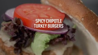 Spicy Chipotle Turkey Burgers by Panasonic