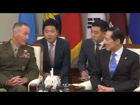 Top US general meets South Korean defense minister in Seoul