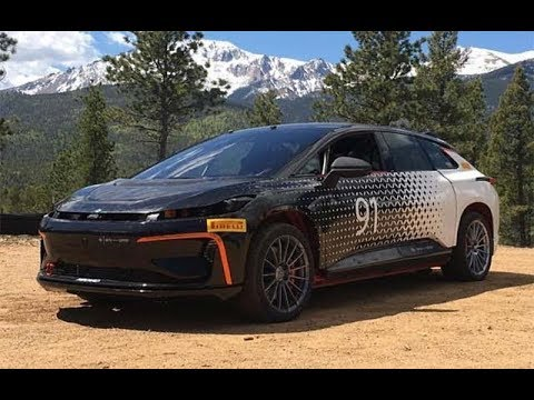 Testing the Faraday Future FF 91 - Approach to Pikes Peak