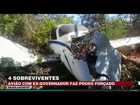 Avião com ex-governador faz pouso forçado no Maranhão