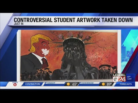 Controversial painting removed from Southwind High School after threat made against principal