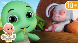 खरगोश और कछुआ Hindi Kahaniya | Rabbit and Tortoise 3D Hindi Stories for Kids by jugnu kids