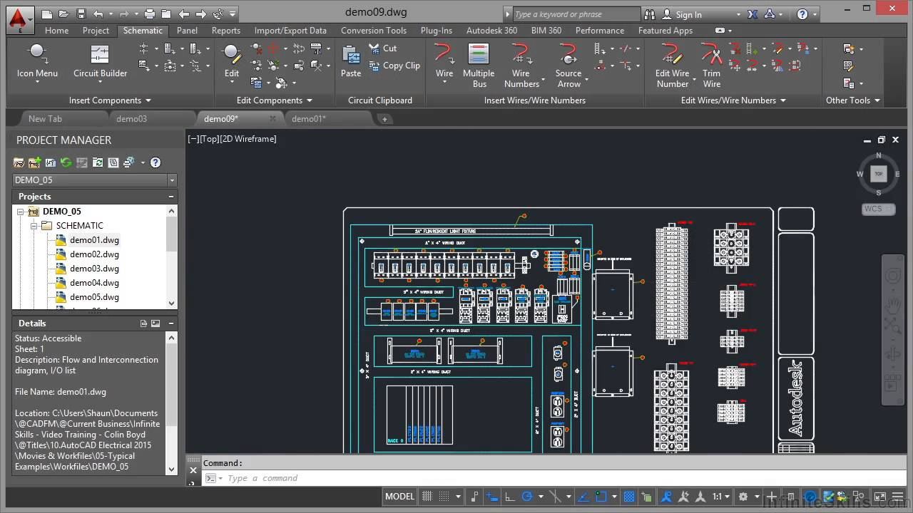 maxresdefault autocad electrical 2015 tutorial panel drawings youtube Aircraft Electrical Harness at bayanpartner.co