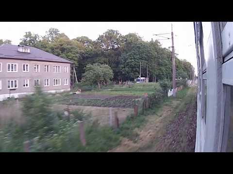 Зеленоградск - Калининград КЛНГ ж.д. из окна электропоезда