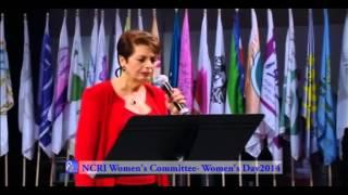 Iranian singer Marjan performs at International Women's Day, Paris, 2014